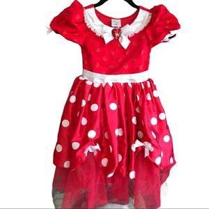 Disney Store Minnie Red Polk A Dot dress size 5/6